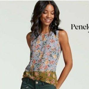 Cabi | Green Floral Penelope Sleeveless Top #5354